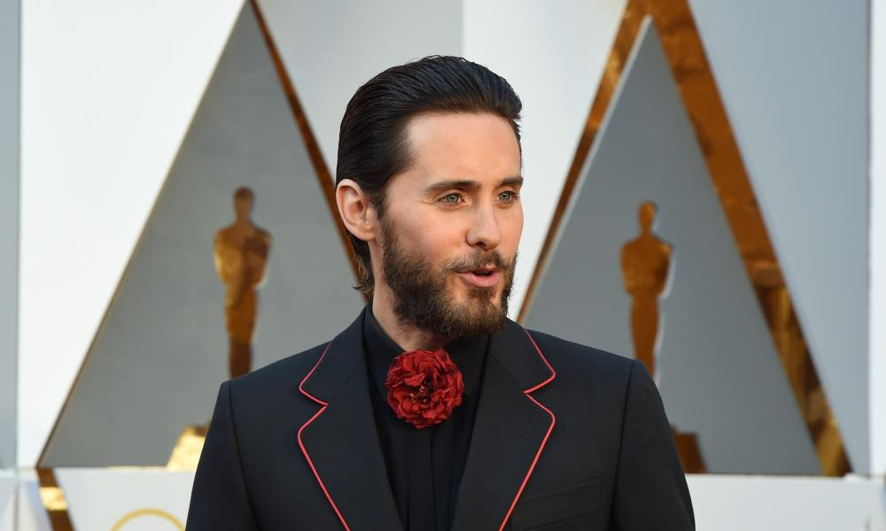 Jared Leto and his corsage.