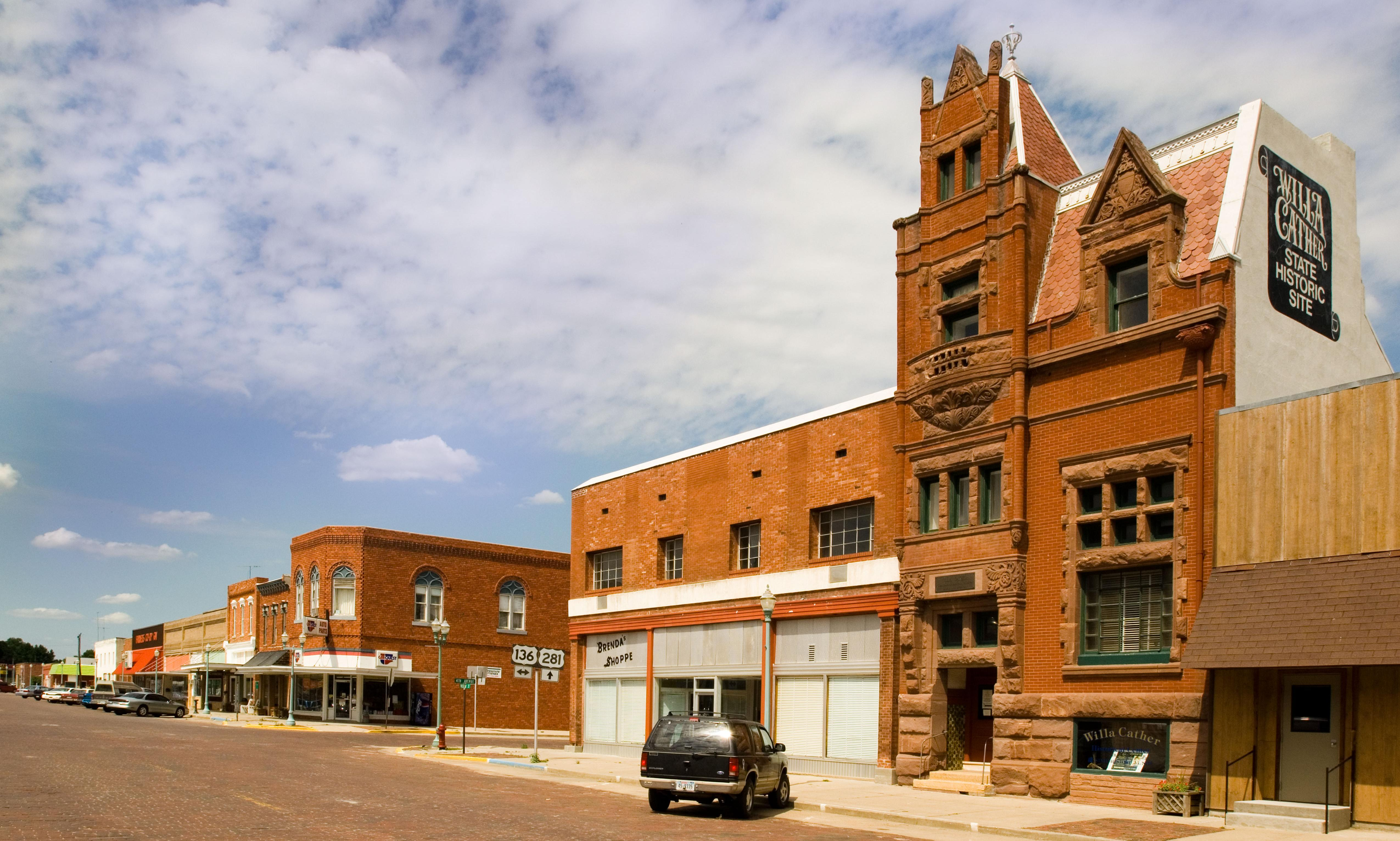 What are this white supremacist's intentions with a tiny Nebraska town?