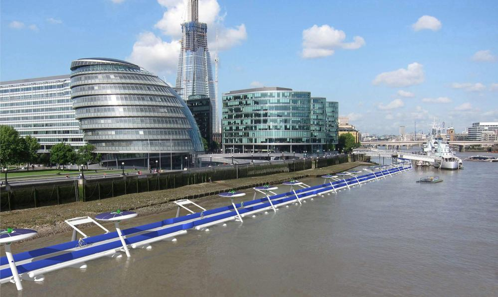 'It has the advantage over other things-on-water fantasies that, if it did actually work, it would serve a clear purpose': the proposed Thames Deckway.