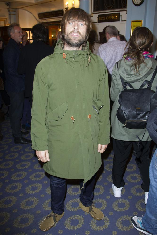 Liam Gallagher doing the military-styled look.