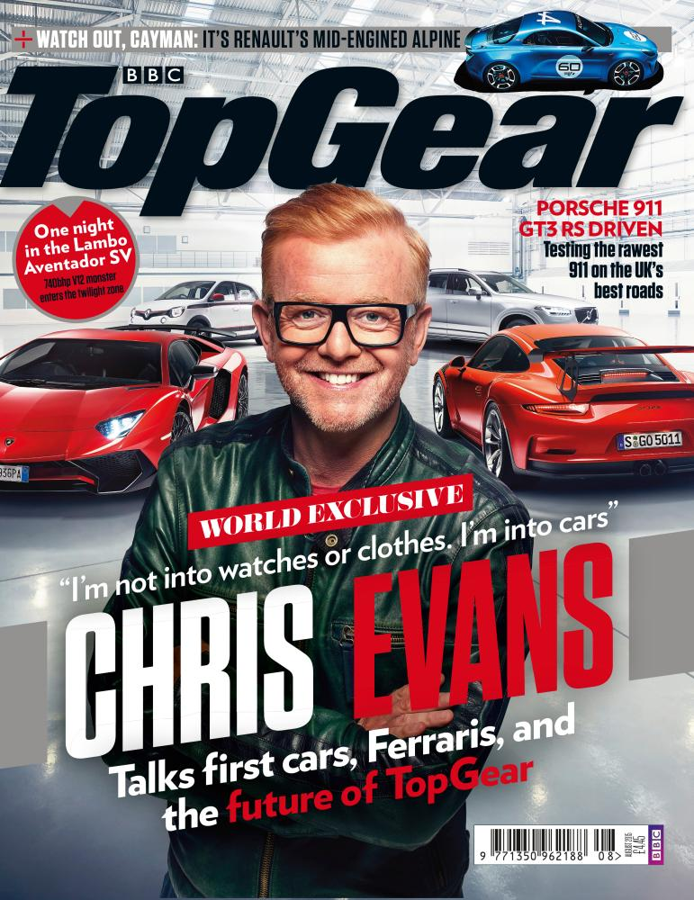 Chris Evans on the August cover.