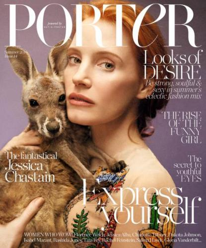 Porter magazine with Jessica Chastain