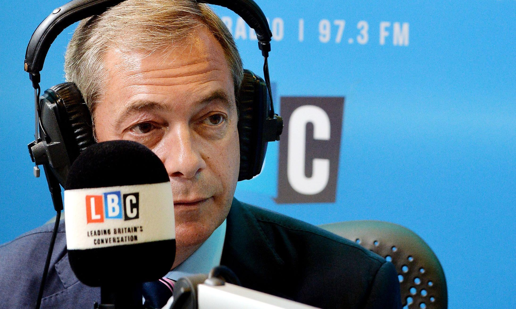 Nigel Farage hits out at London's Uber drivers