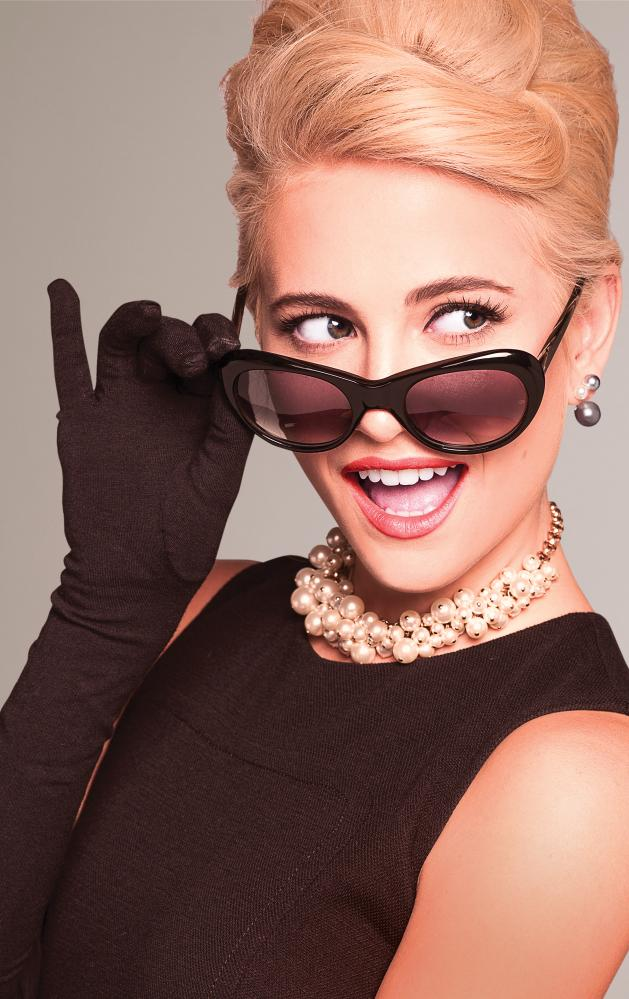 Pixie Lott as Holly Golightly in Breakfast at Tiffany's.