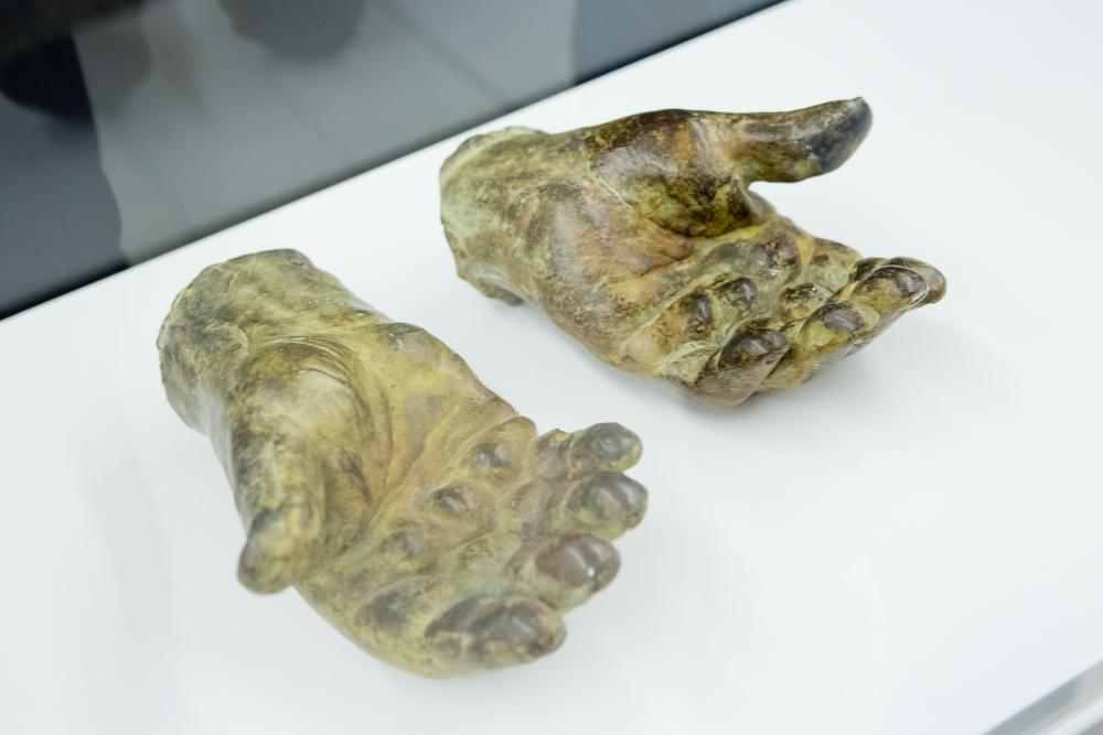 Eduardo Paolozzi's casts of his own hands.