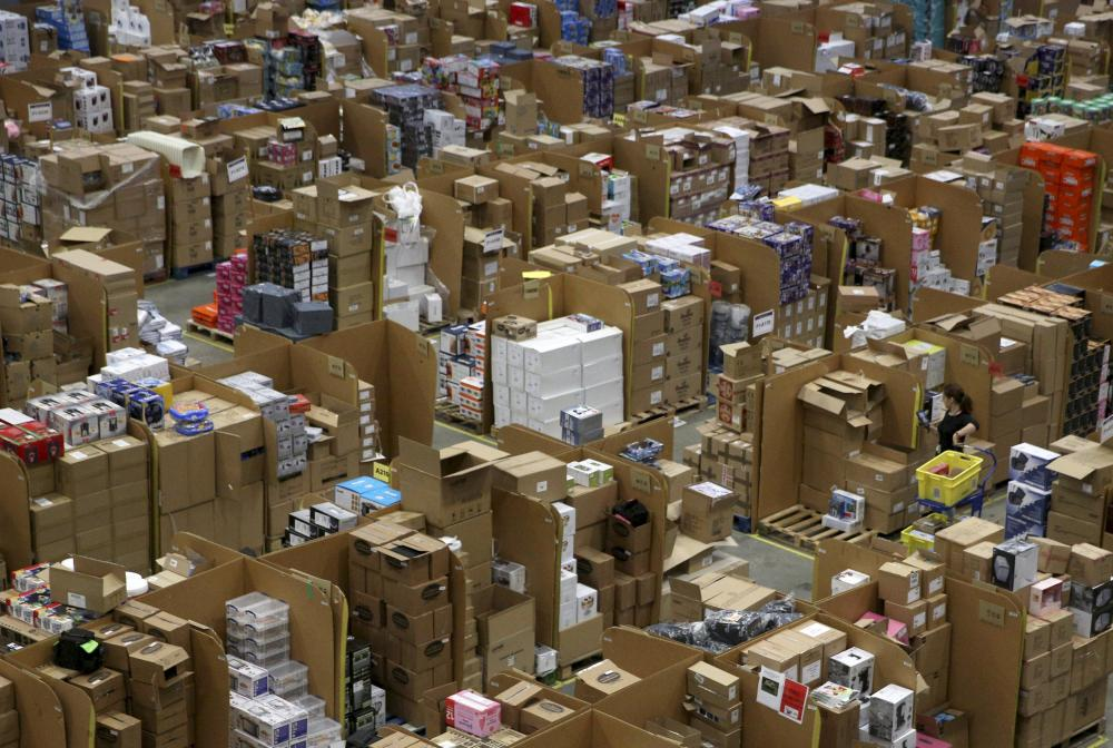 An Amazon fulfilment centre in Hemel Hempstead during Black Friday.