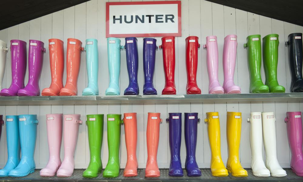 Hunter wellies, a festival staple.