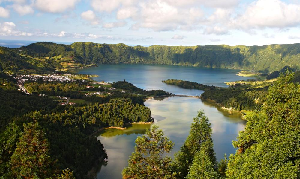 Crater Lake on São Miguel island in the Azores.