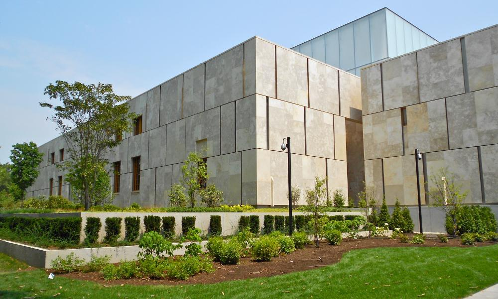 The Barnes Foundation Museum on the Ben Franklin Parkway in Philadelphia, which replicated the original building's exhibition rooms. <br />