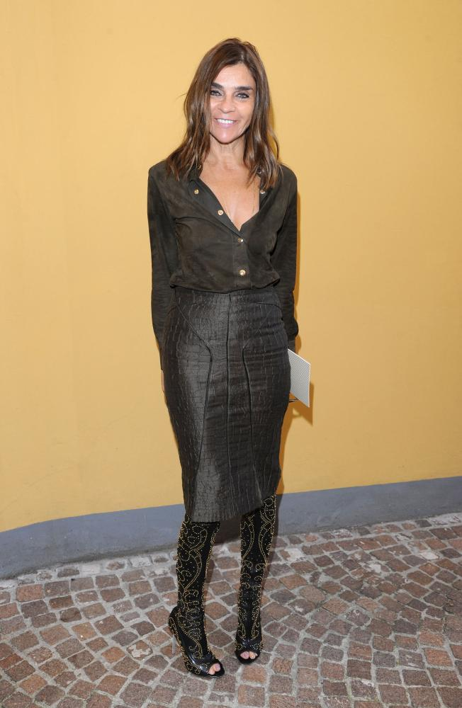 Carine Roitfeld at Milan Fashion Week.