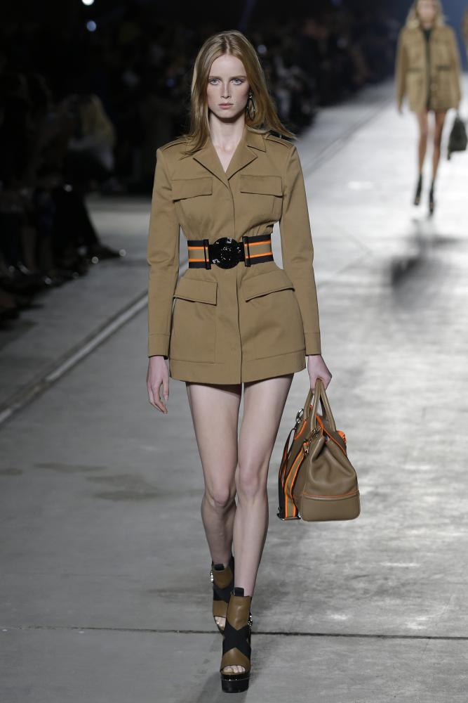 A military-style creation from Versace.