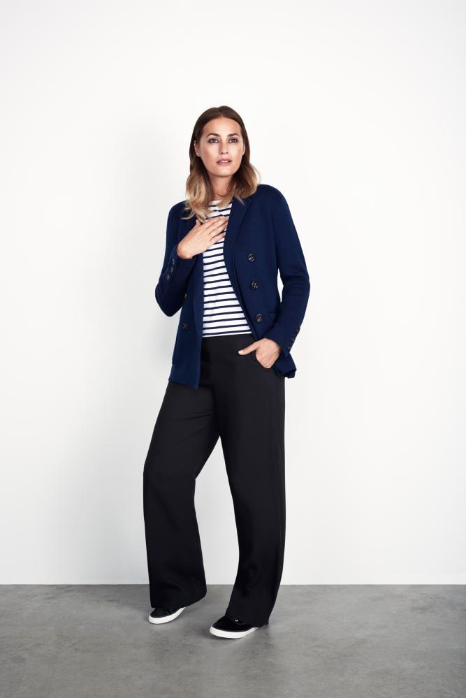 Clothes from Winser London modelled by Yasmin le Bon