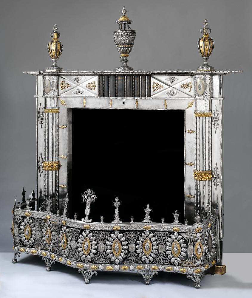 A fireplace made in the Russian Imperial Arms Factory, Tula, c1805