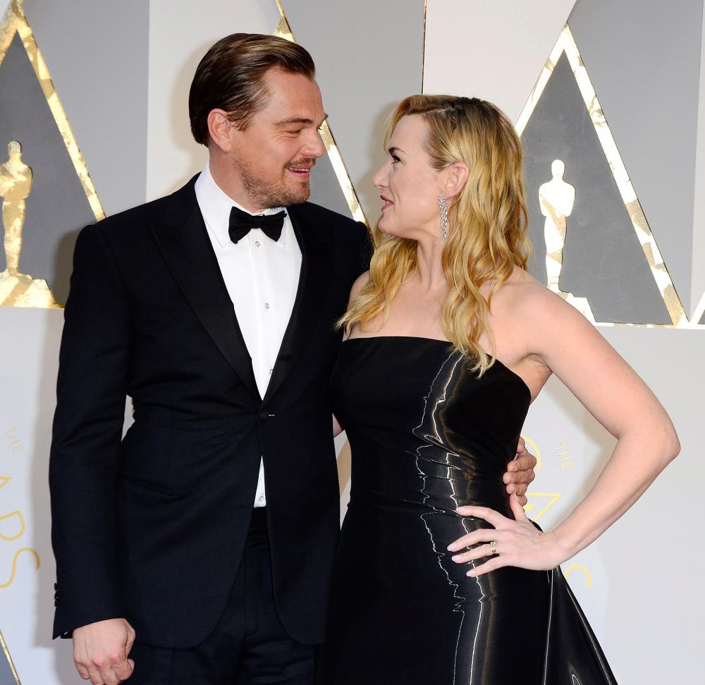 Leonardo DiCaprio and Kate Winslet.