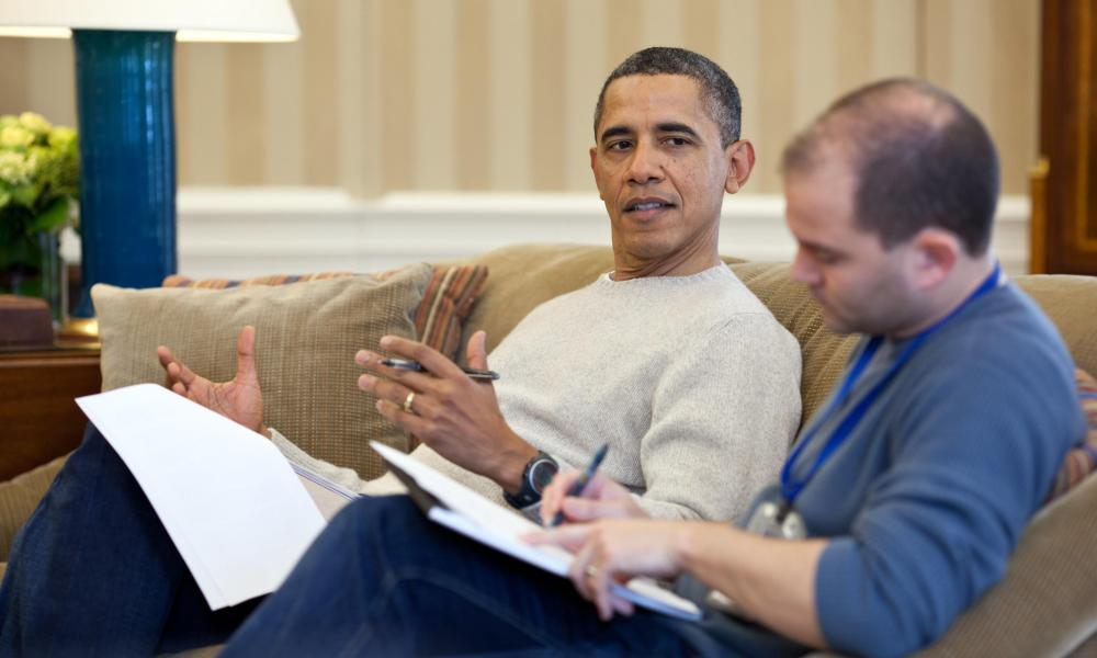 President Obama with Ben Rhodes in the Oval Office