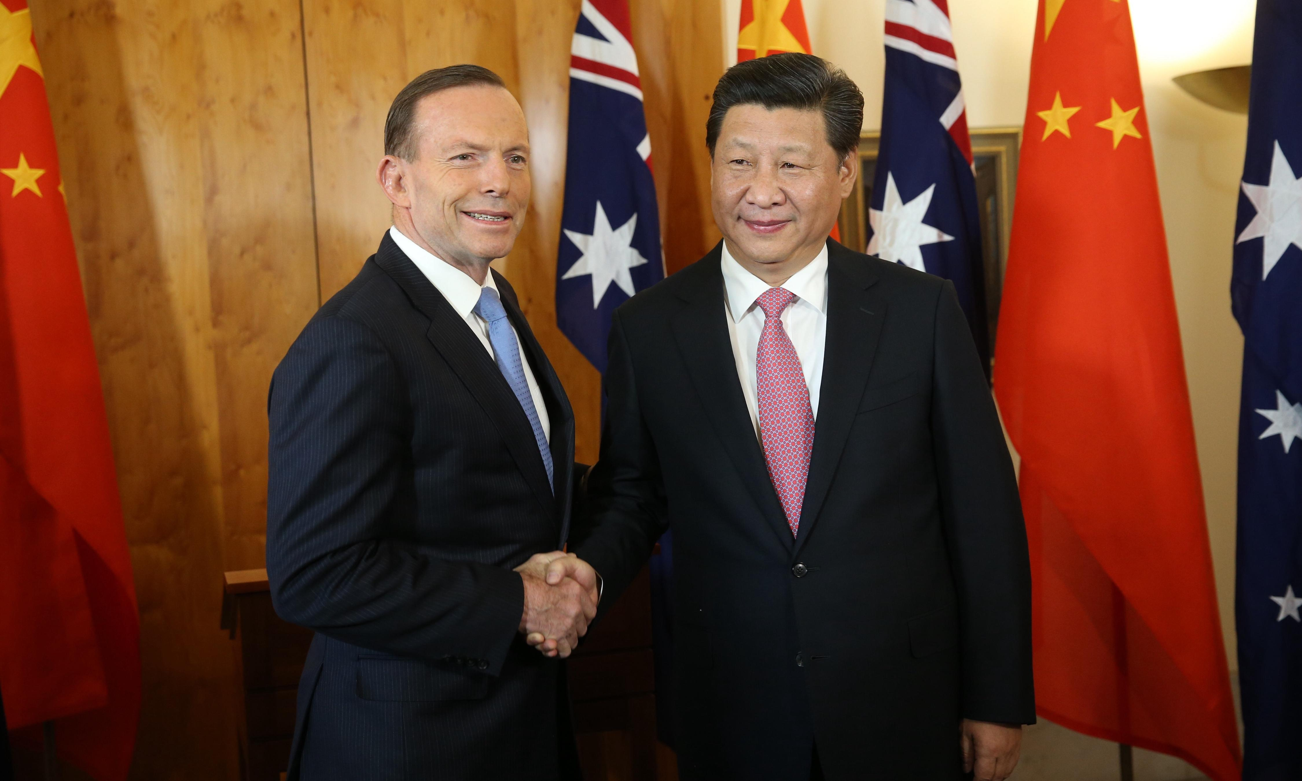 Tony Abbott accuses China of bullying neighbours and warns of 'cold peace'