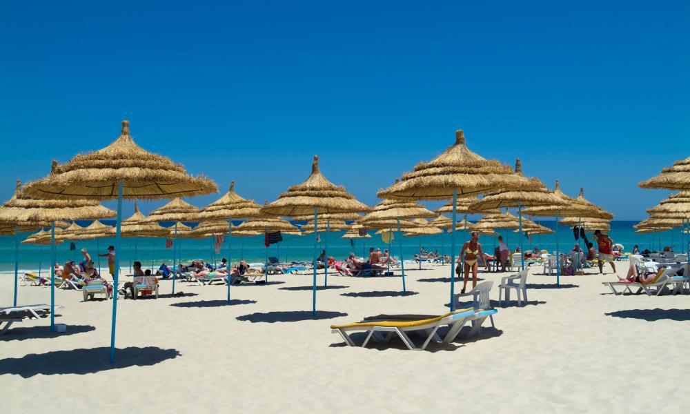 The beach at Sousse, Tunisia