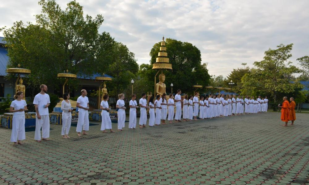 Monk Chat in Chiang Mai, Thailand
