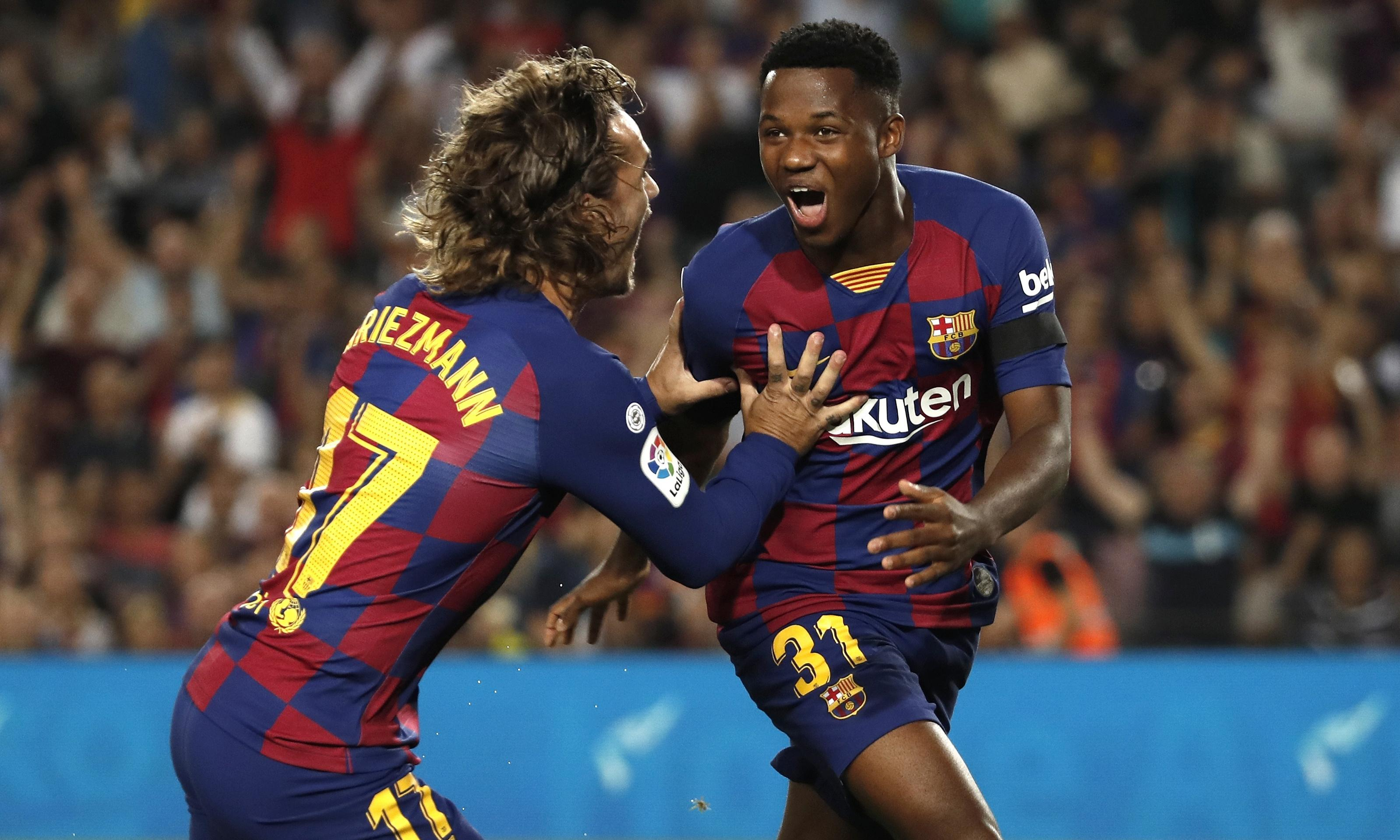 European roundup: Sixteen-year-old Ansu Fati stars in Barcelona win