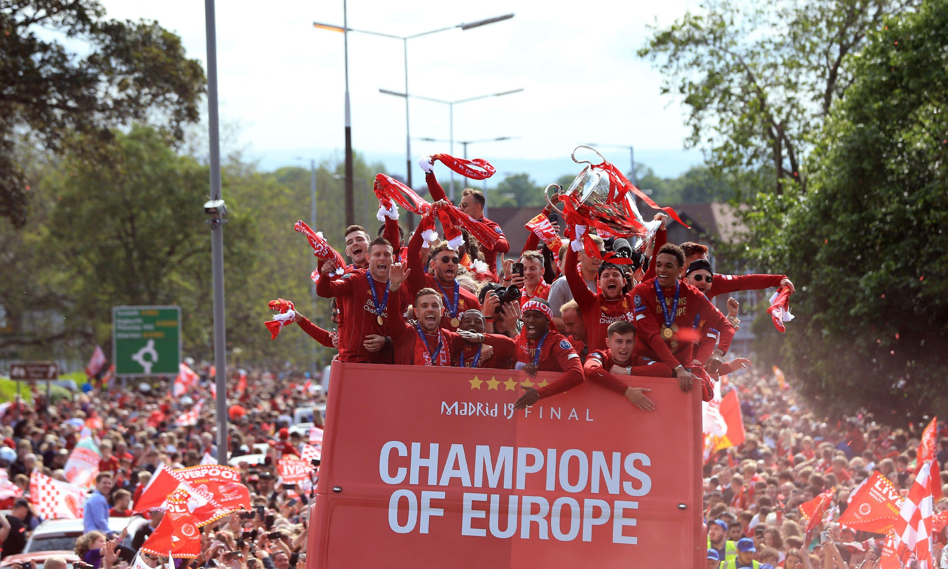 Triumphant Liverpool come home to a sea of red after Champions League win