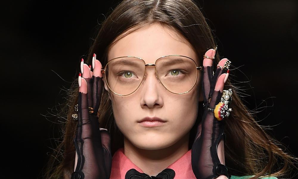 Gucci SS16 … Alessandro Michele's oversized frames.