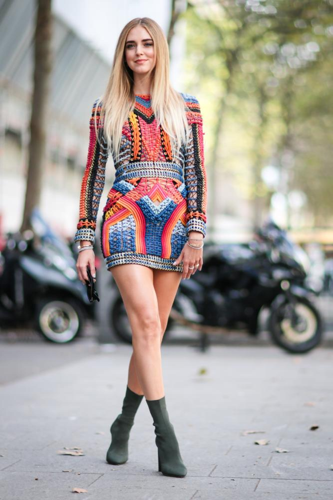 Chiara Ferragni at Paris fashion week in September 2016
