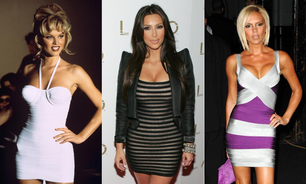 Eva Herzigová, Kim Kardashian and Victoria Beckham do bodycon.