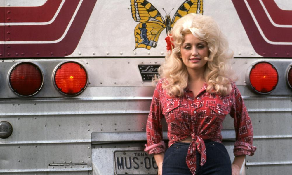 'A seasonal spell' ... Dolly Parton in 1977.