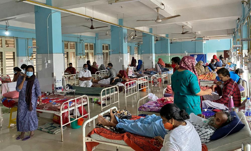A Covidnward in the Government Medical College Hospital in Manjeri. India.