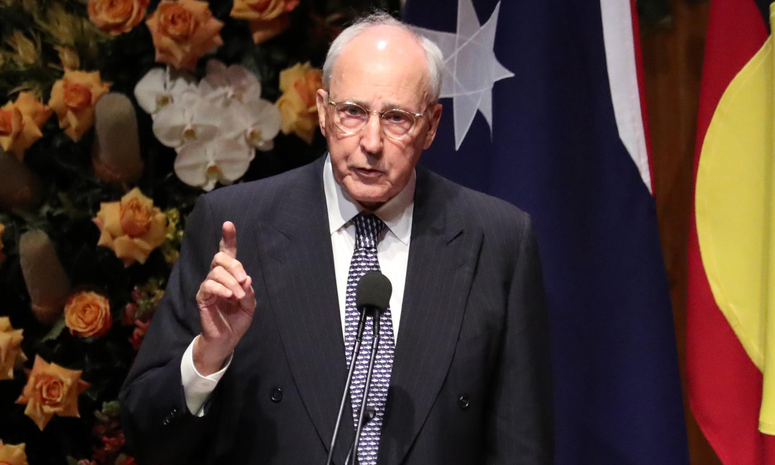 Paul Keating lambasts Australia's security agencies and 'pious' media for anti-China rhetoric