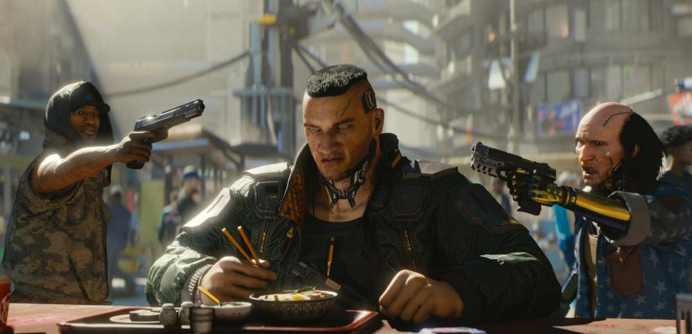 Gritty and violent … Cyberpunk 2077.
