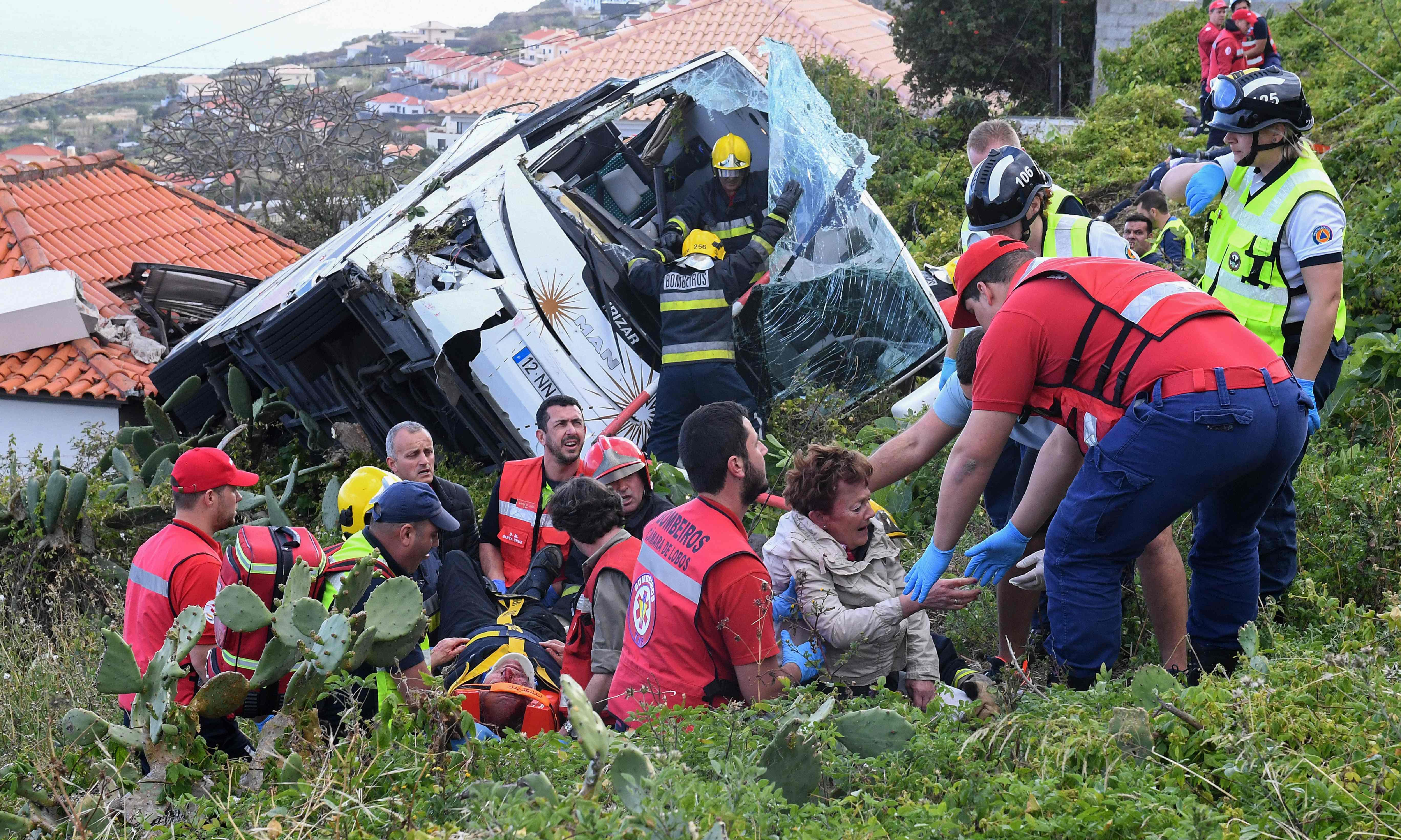 Portugal crash: at least 29 killed on tourist bus in Madeira