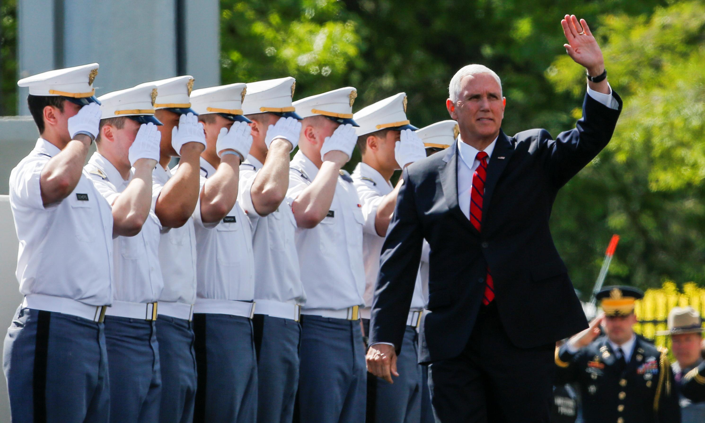 Mike Pence tells US military graduates: you should expect to see combat