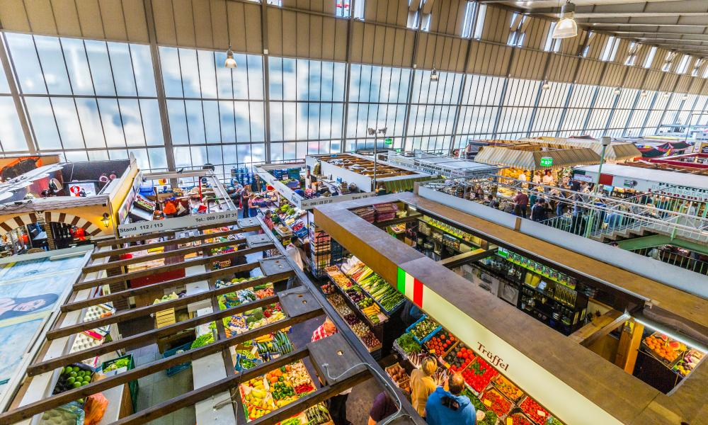 Kleinmarkthalle in Frankfurt, Germany.