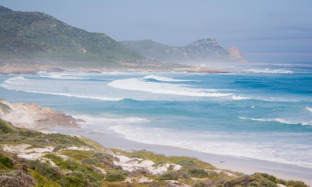 view from Platboom Beach towards Cape of Good Hope