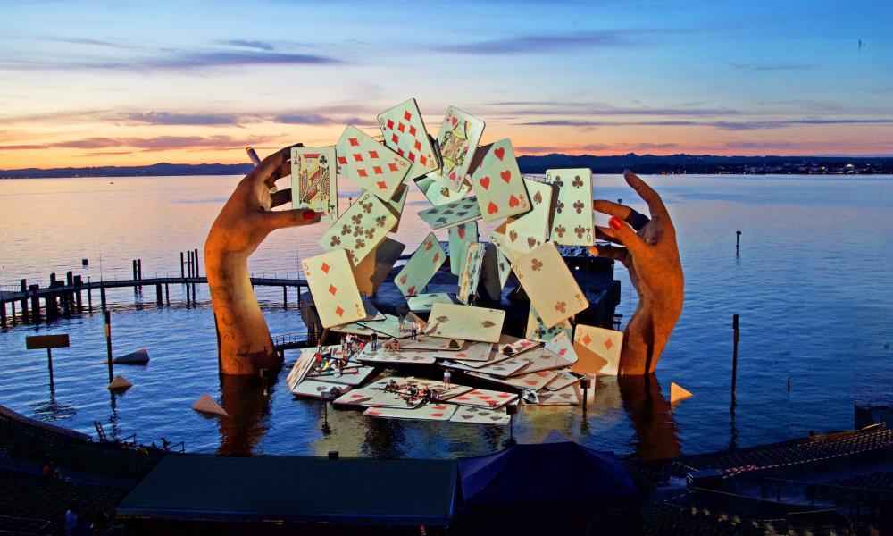 Devlin's lake stage for Bizet's Carmen at Bregenz festival in Austria.