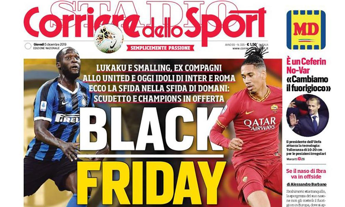 Smalling and Lukaku hit out at Corriere dello Sport 'Black Friday' front page