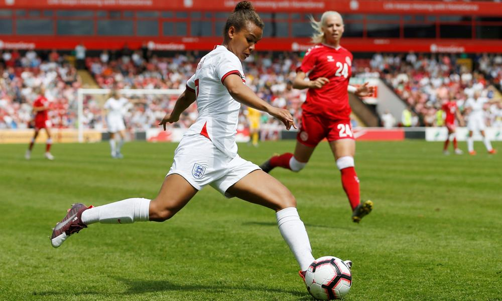 England's Nikita Parris in action