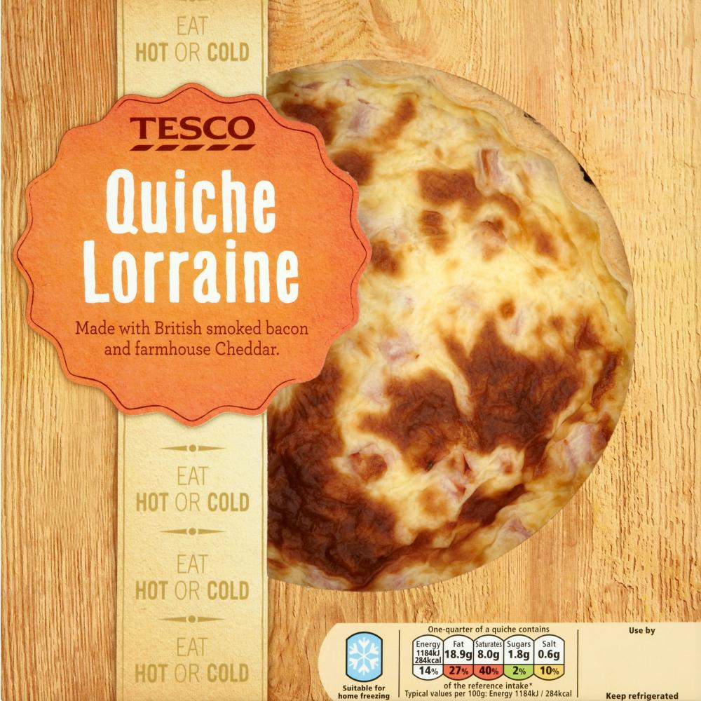Tesco's quiche lorraine. Sadly lacking.