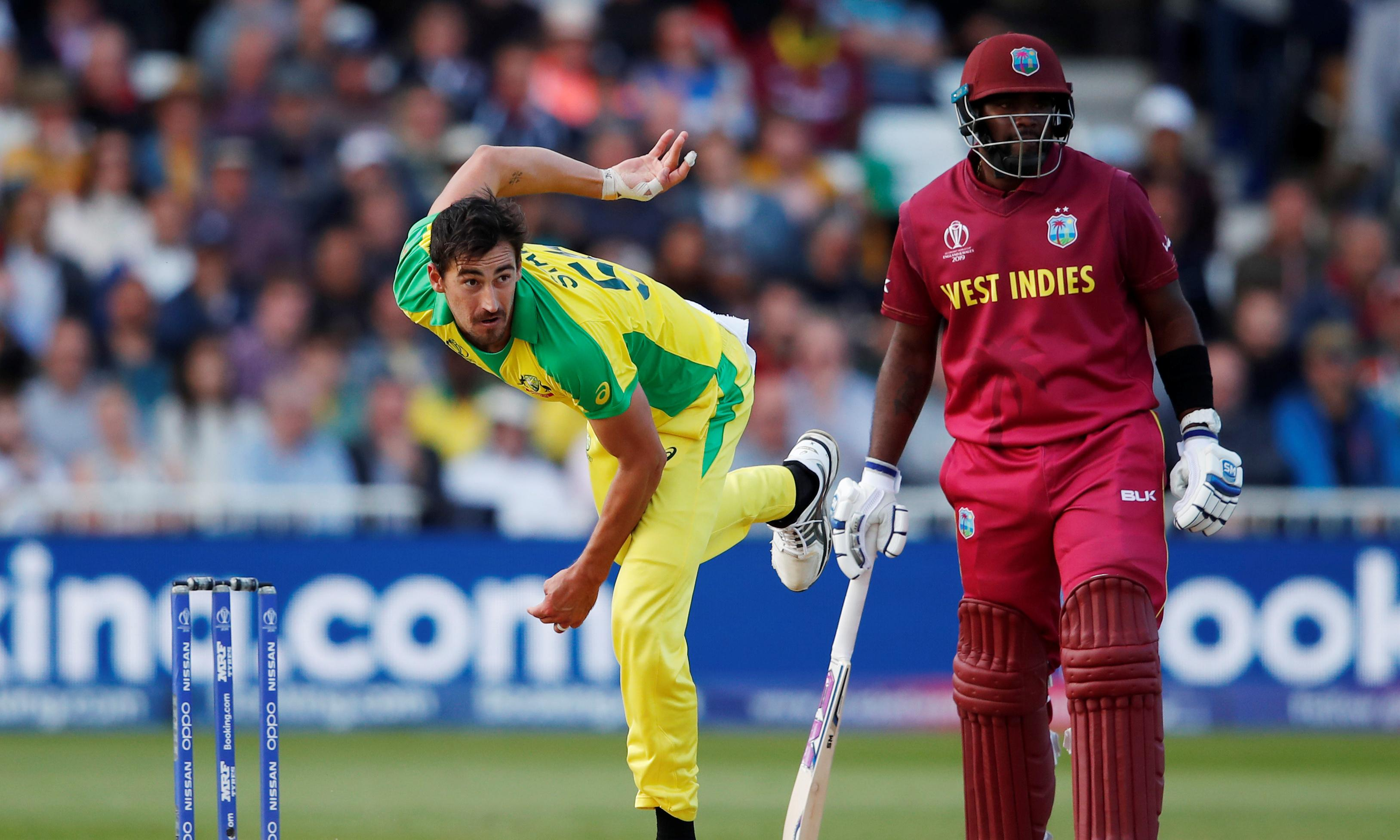 Mitchell Starc mauls West Indies in gutsy World Cup win for Australia