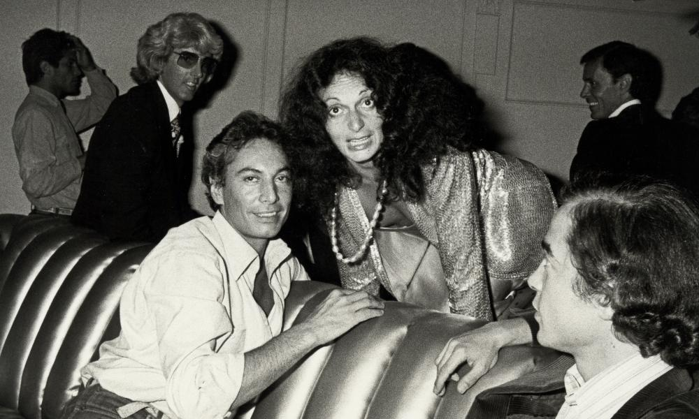 Guy Bergon and Diane von Fürstenberg at Studio 54.