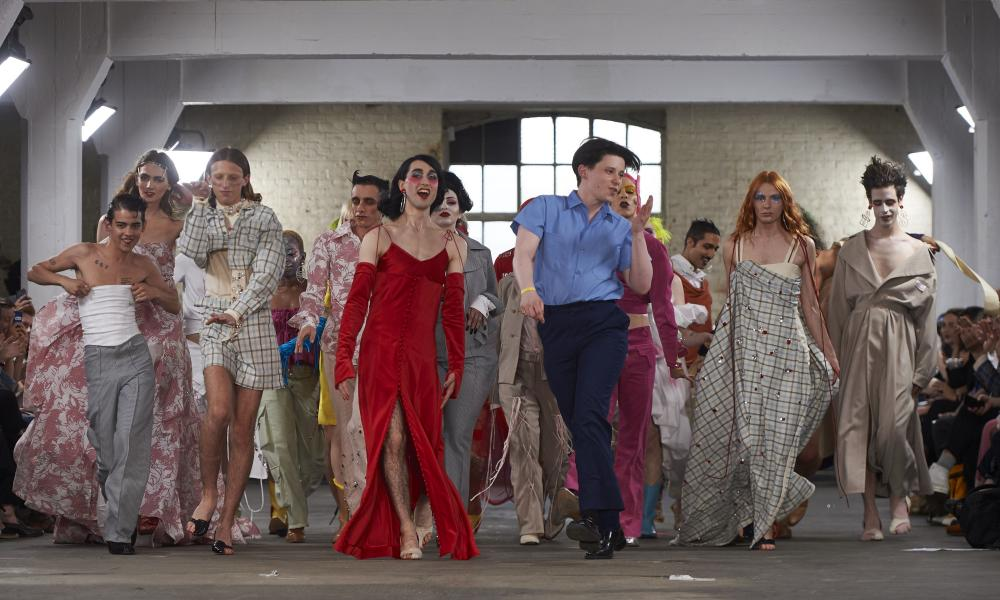Models present creations at the MAN catwalk show