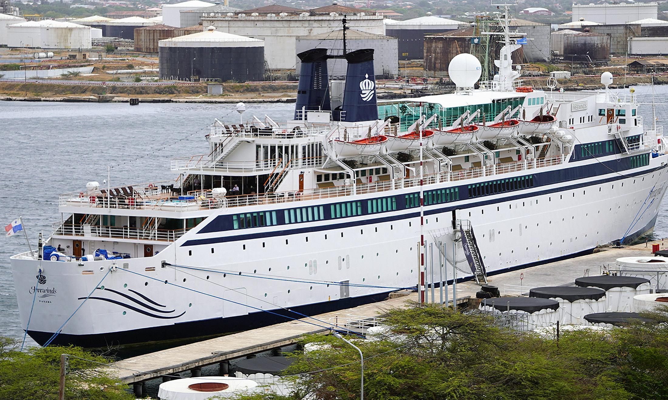 Scientology cruise ship still quarantined as passengers are tested for measles
