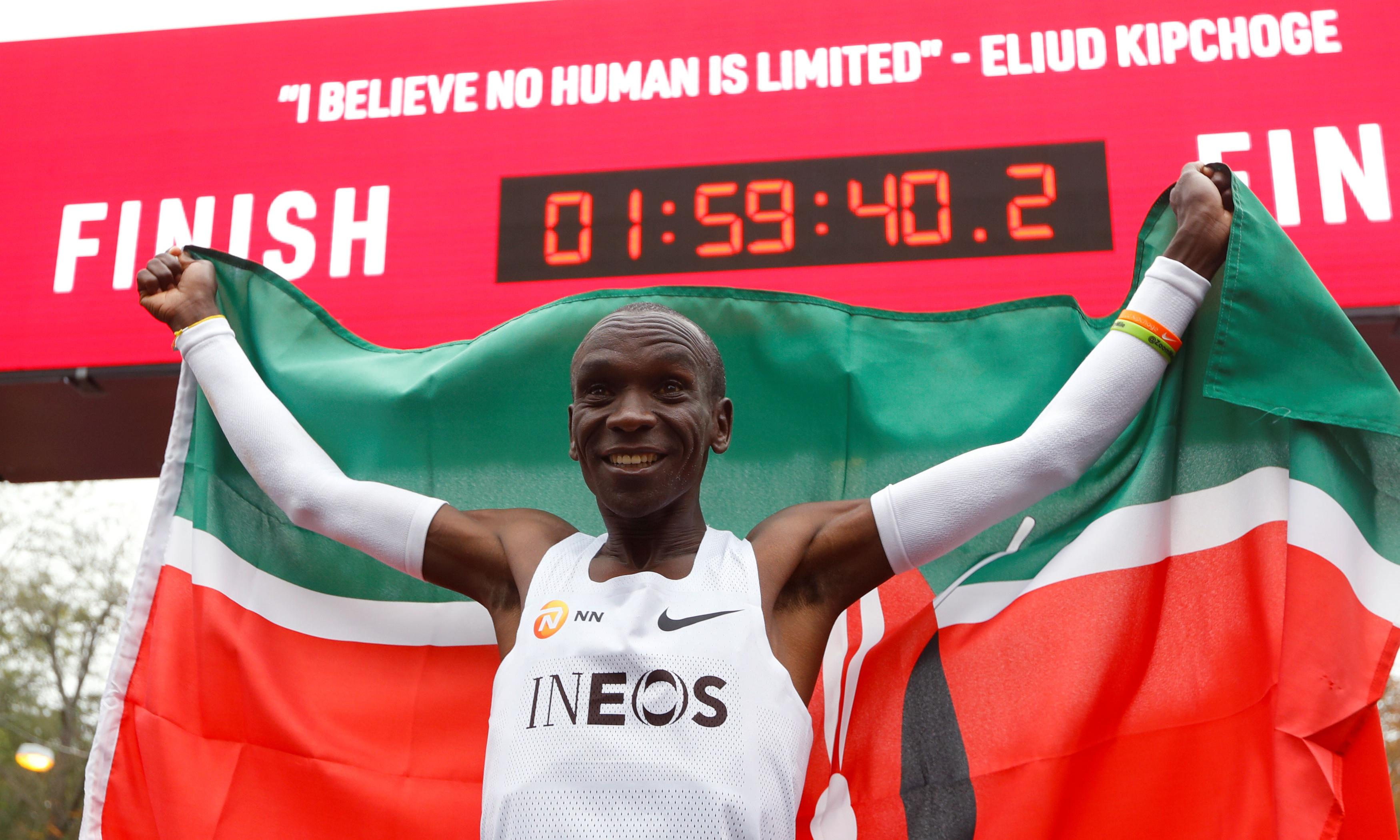 'We went for the moon': how Eliud Kipchoge made marathon history