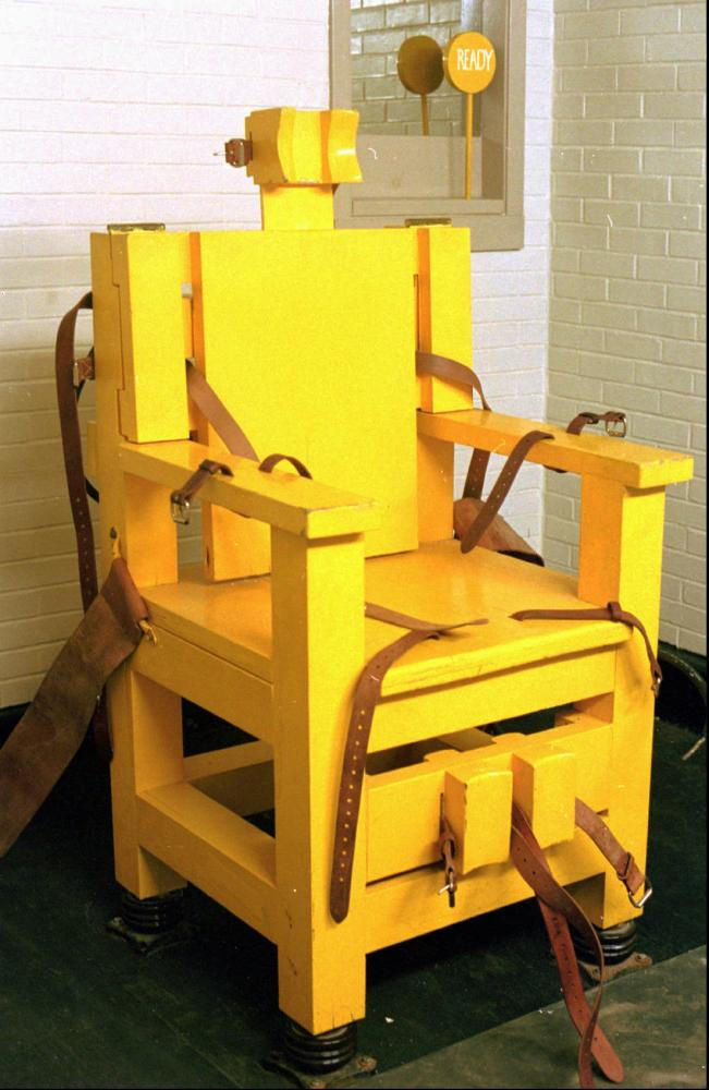 Fully charged: Alabama's electric chair, known as 'Yellow Mama'.