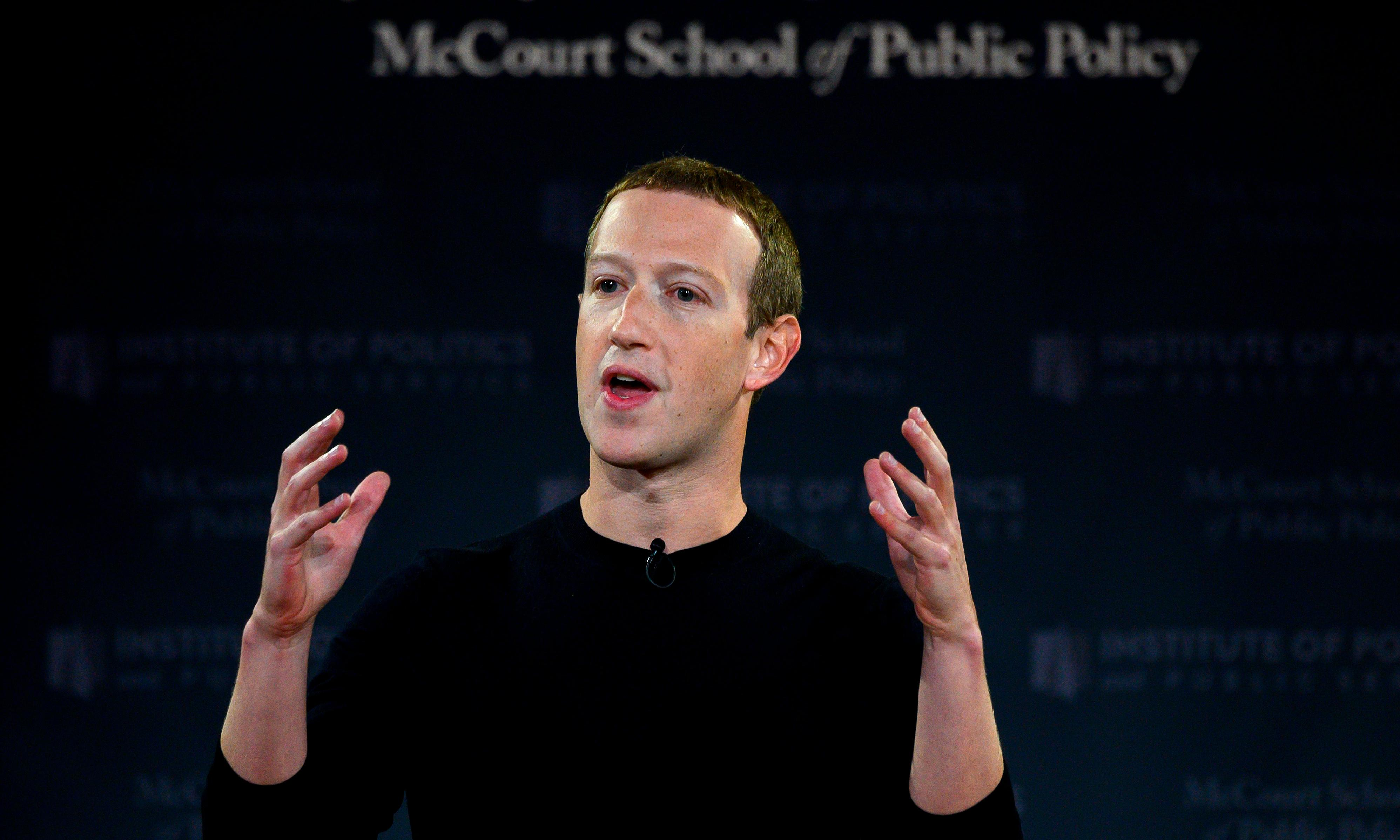 Zuckerberg defends Facebook as bastion of 'free expression' in speech