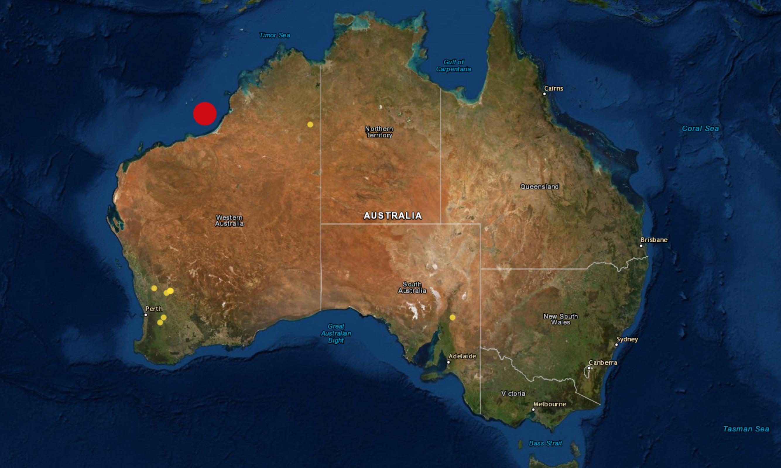Western Australia earthquake: 6.6 magnitude tremor felt from Broome to Perth