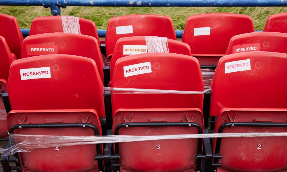 Seats reserved for fans who have bought a piece of the ground's nostalgia.