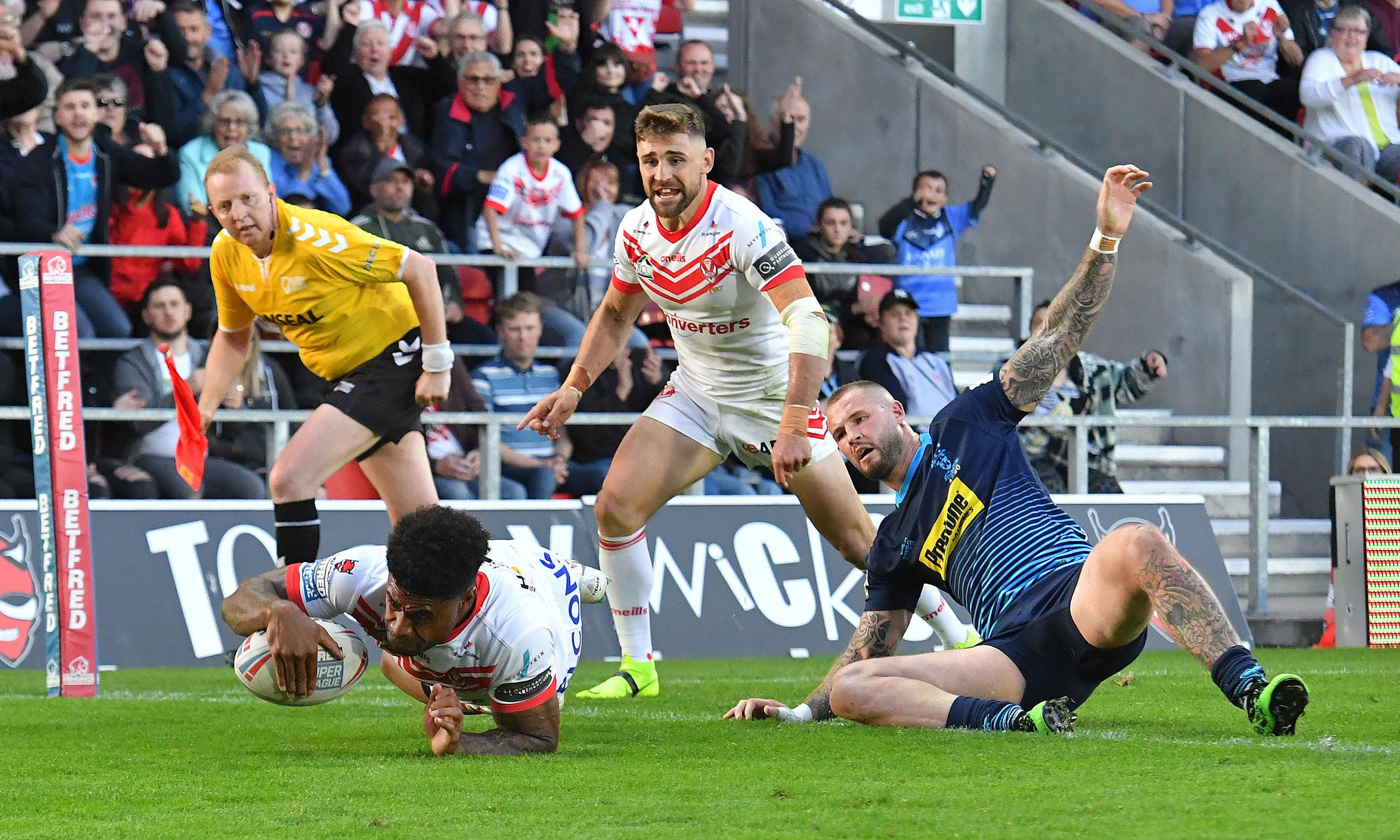 St Helens sweep Wigan aside and close in on League Leaders' Shield