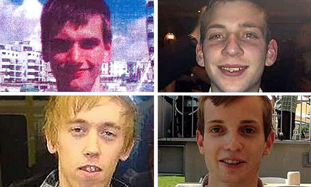 Clockwise from top left: Daniel Whitworth, 21, Jack Taylor, 25, Gabriel Kovari, 22, and Anthony Walgate, 23, were killed between June 2014 and September 2015
